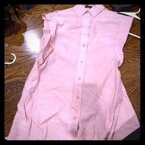 BCBG Maxazria pink sleeveless blouse size XS